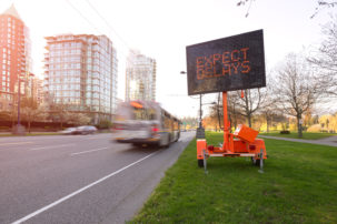 traffic delay LED sign