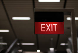 Neon Exit Sign